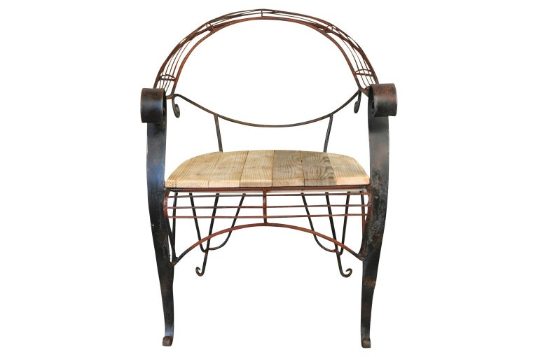 Early 20th Century Garden Chair For Sale 1