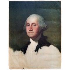 Early 20th Century George Washington Portrait Bicentennial Litho