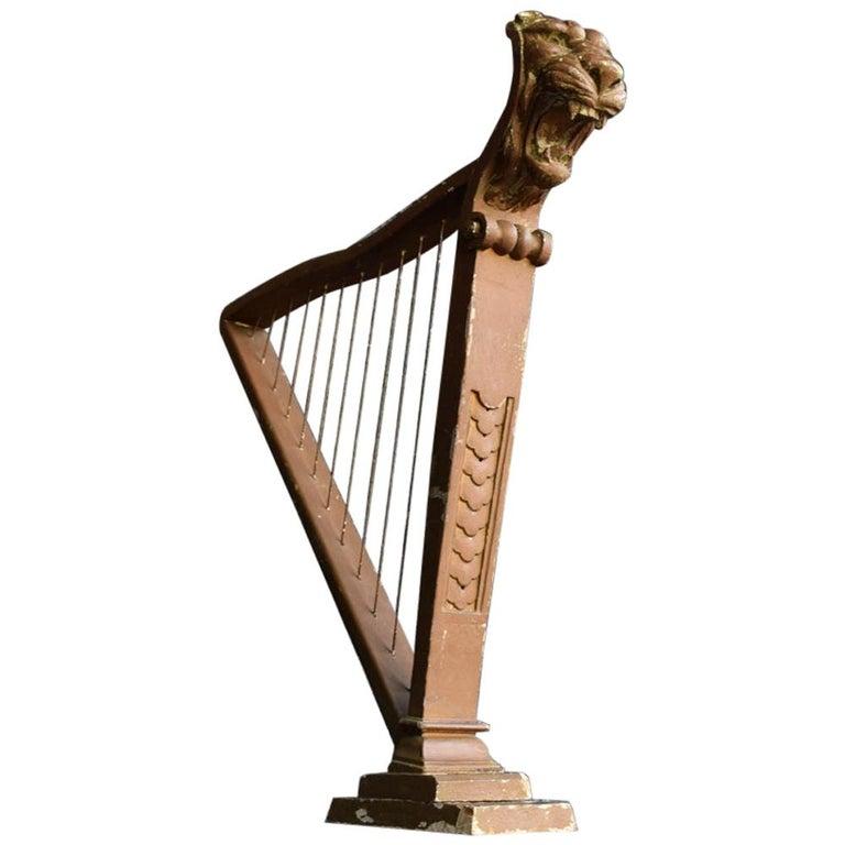 Early 20th Century German Folk Art Shop Display Harp For Sale