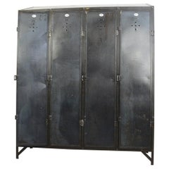 Early 20th Century German Industrial Lockers, circa 1910