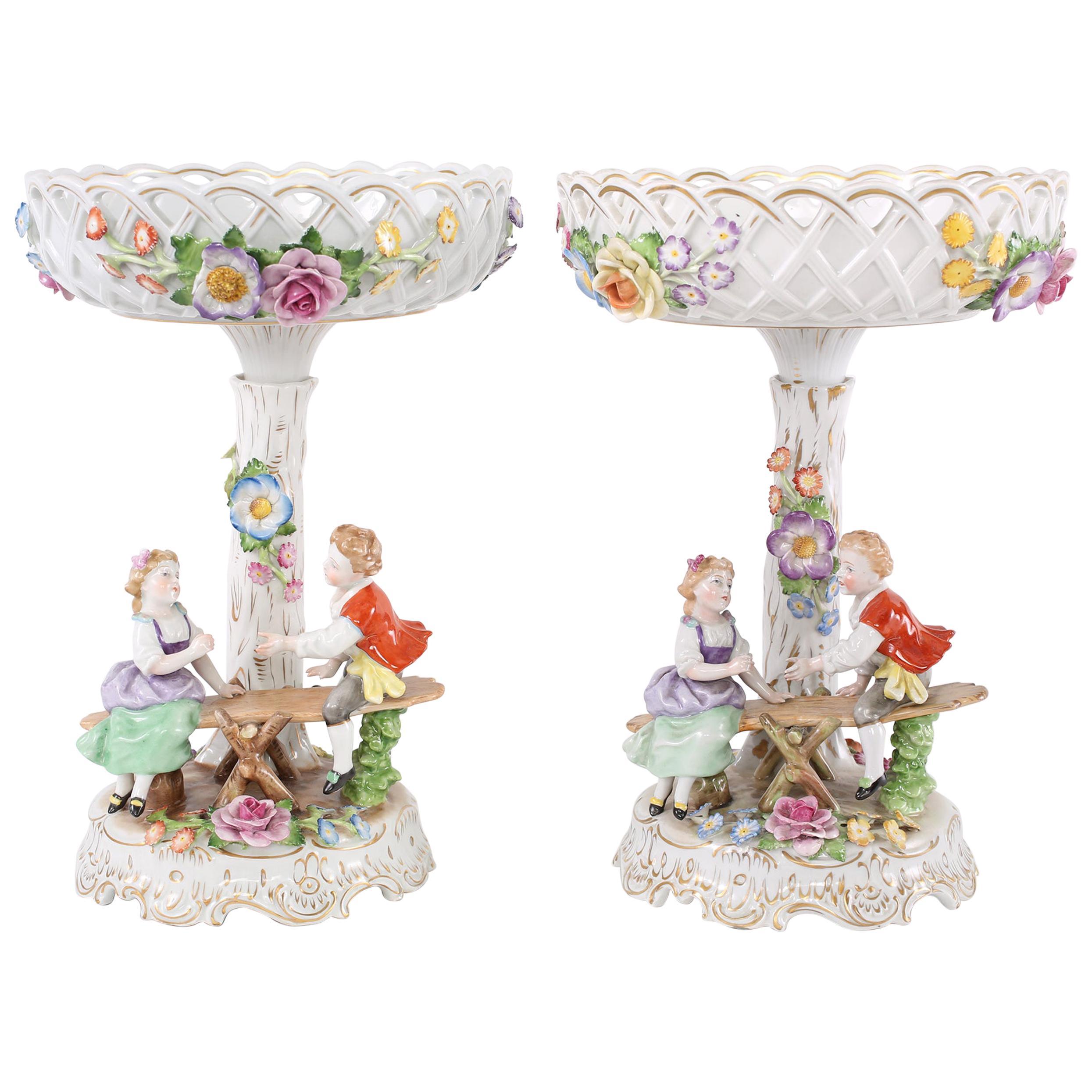 Early 20th Century German Porcelain Decorative Pieces