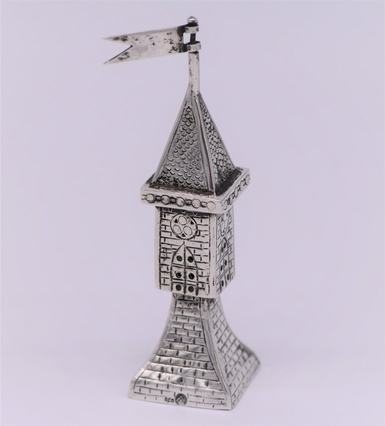 Early 20th Century German Silver Spice Tower In Excellent Condition For Sale In New York, NY