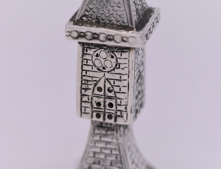 Early 20th Century German Silver Spice Tower For Sale 1