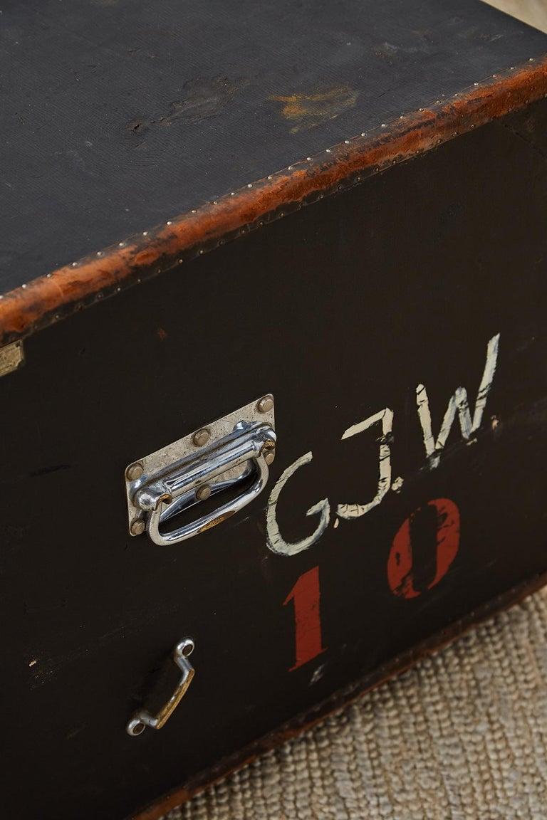 Early 20th Century German Steamer Trunk by Kongsbak For Sale 5
