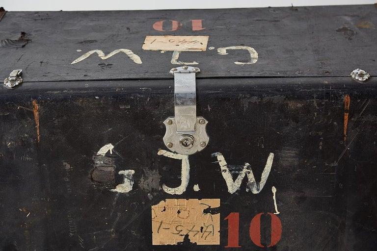 Metal Early 20th Century German Steamer Trunk by Kongsbak For Sale