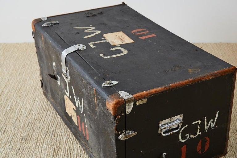 Early 20th Century German Steamer Trunk by Kongsbak For Sale 3