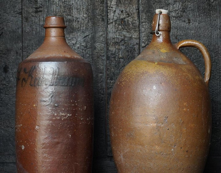 Austrian Early 20th Century German Stein Beer Jugs, Guglhupf and Römertopf For Sale
