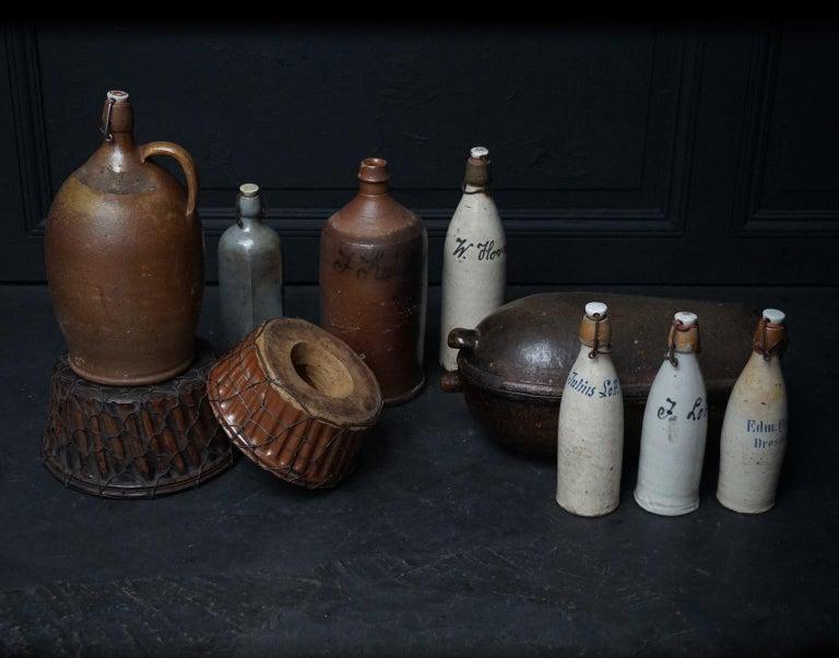 Early 20th Century German Stein Beer Jugs, Guglhupf and Römertopf For Sale 2