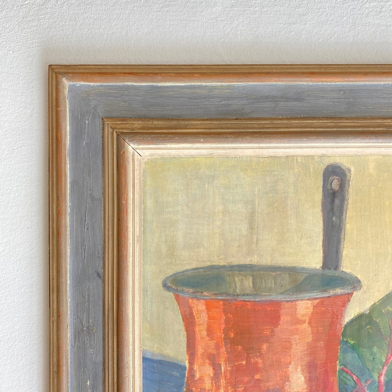 Early 20th Century German Still Life Oil Painting, Around 1950 For Sale 4