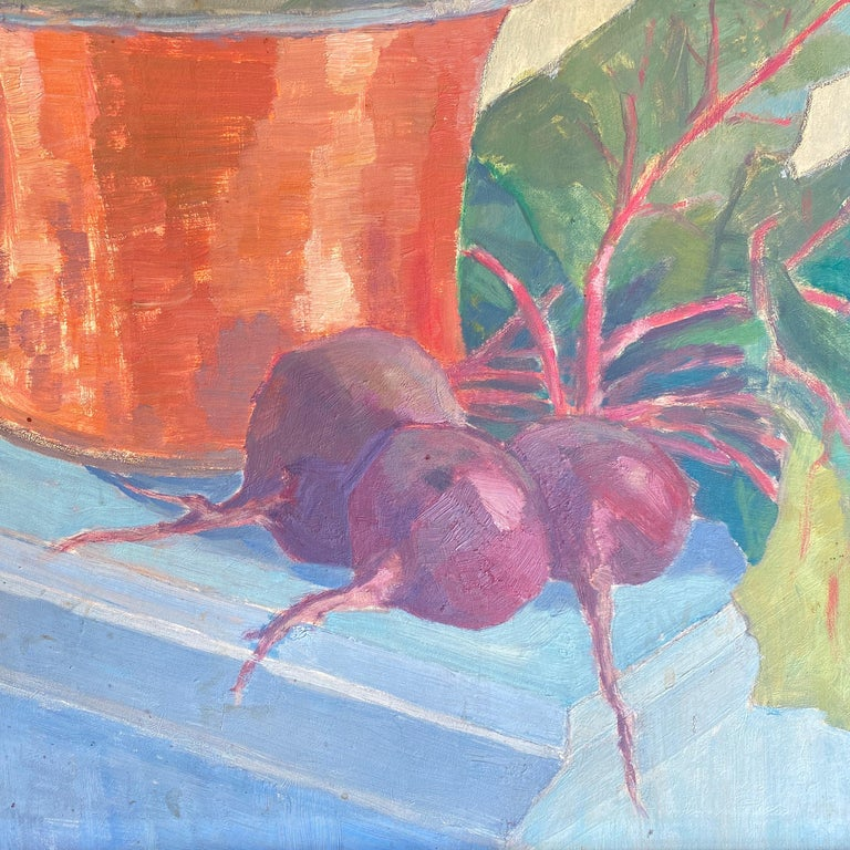 Mid-Century Modern Early 20th Century German Still Life Oil Painting, Around 1950 For Sale