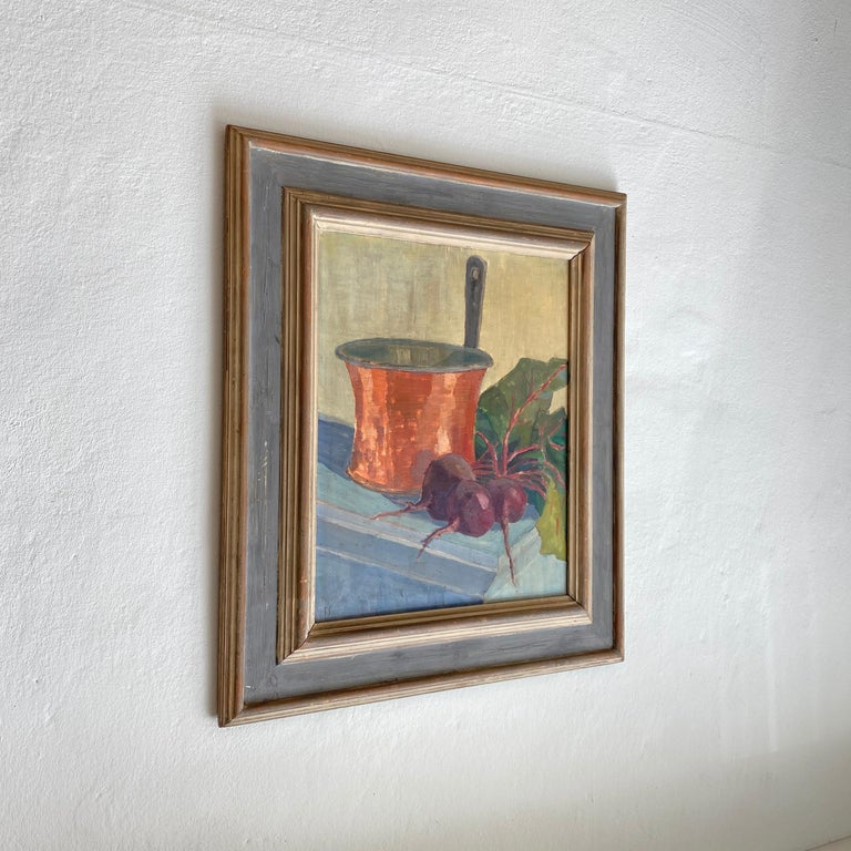Early 20th Century German Still Life Oil Painting, Around 1950 In Good Condition For Sale In Berlin, DE