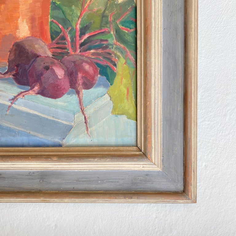 Early 20th Century German Still Life Oil Painting, Around 1950 For Sale 2