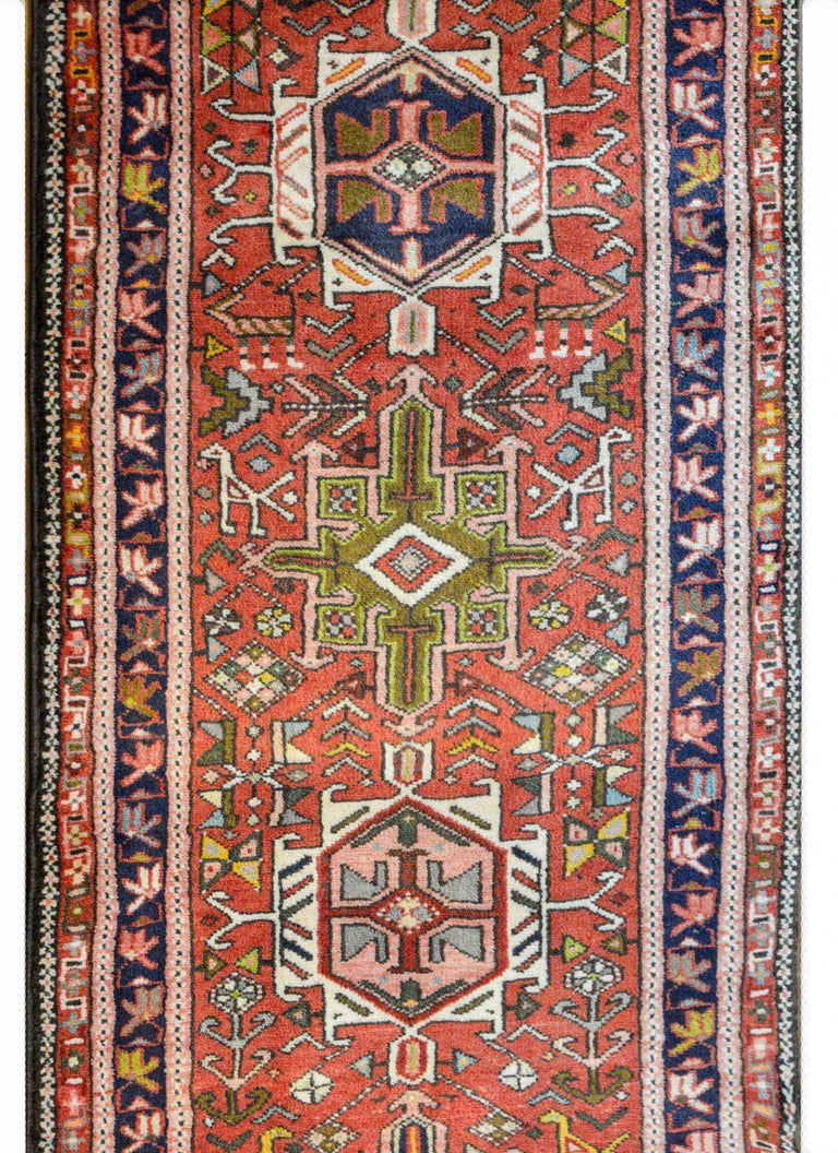 Persian Early 20th Century Karadja Runner For Sale