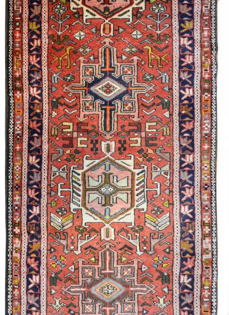 Hand-Knotted Early 20th Century Karadja Runner For Sale