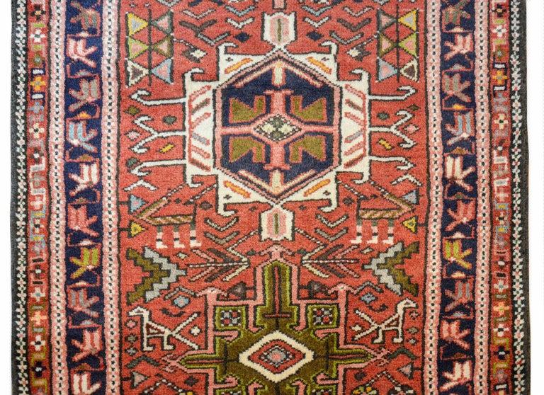 Wool Early 20th Century Karadja Runner For Sale