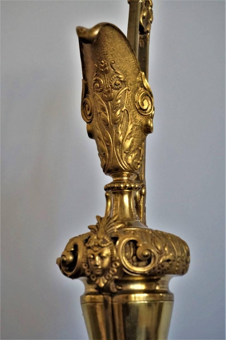 Spanish Early 20th Century Gilt Bronze Decorative Ewer, Pitcher For Sale