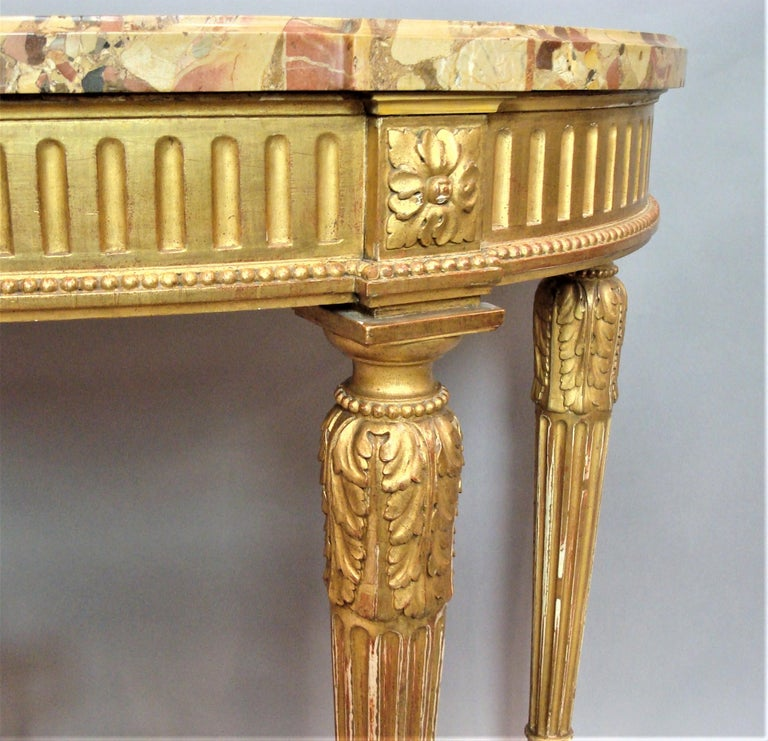 Early 20th Century Giltwood Console Table by Charles Bernel 10