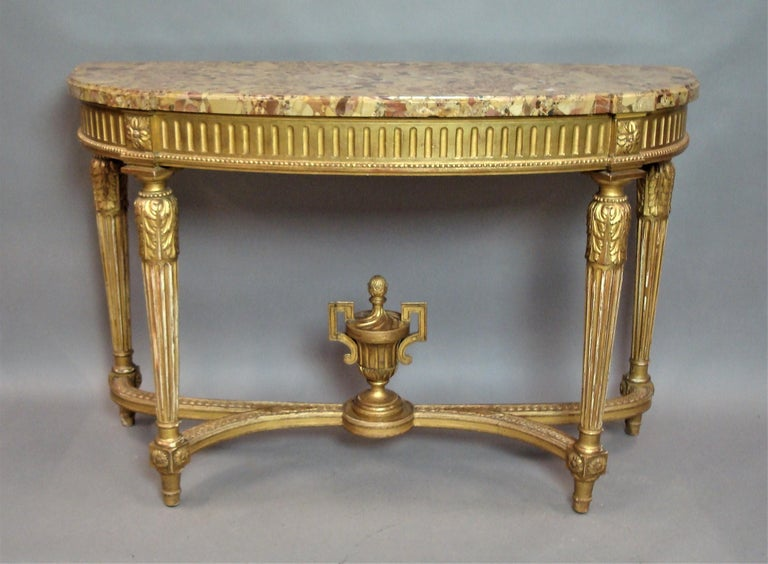 Early 20th Century Giltwood Console Table by Charles Bernel 16