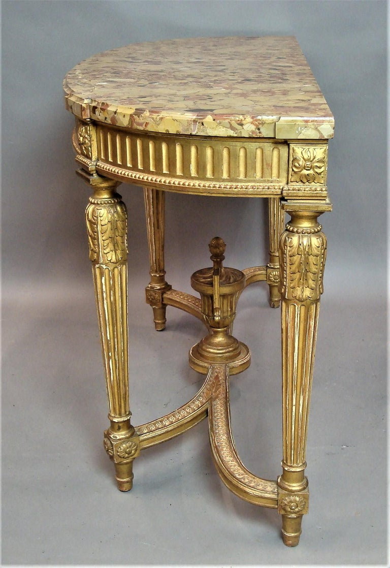 Early 20th Century Giltwood Console Table by Charles Bernel 2