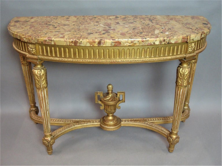 Early 20th Century Giltwood Console Table by Charles Bernel 20