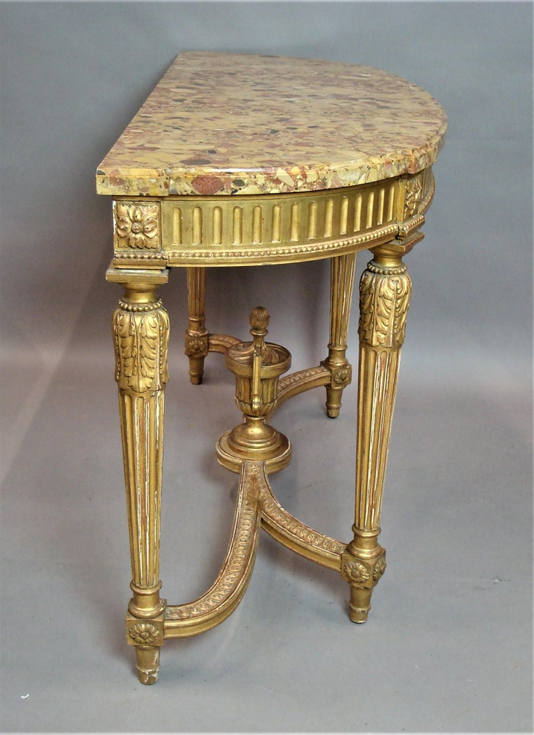 Early 20th Century Giltwood Console Table by Charles Bernel 3