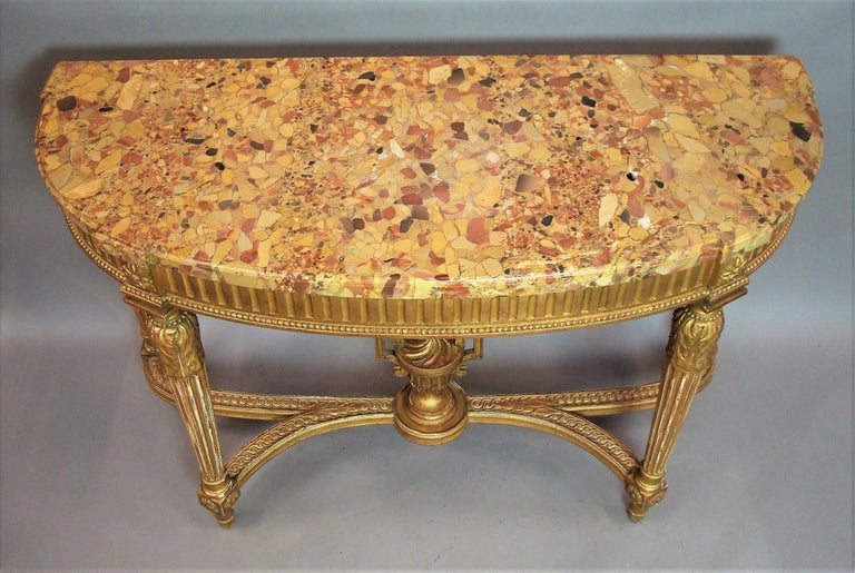 Early 20th Century Giltwood Console Table by Charles Bernel 4