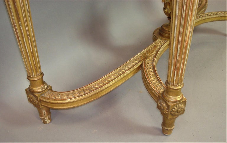 Early 20th Century Giltwood Console Table by Charles Bernel 7