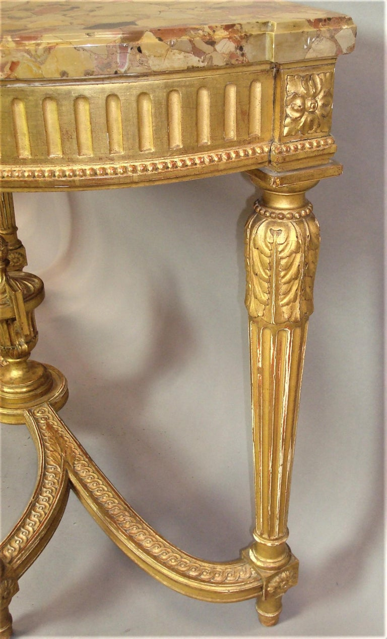 Early 20th Century Giltwood Console Table by Charles Bernel 9