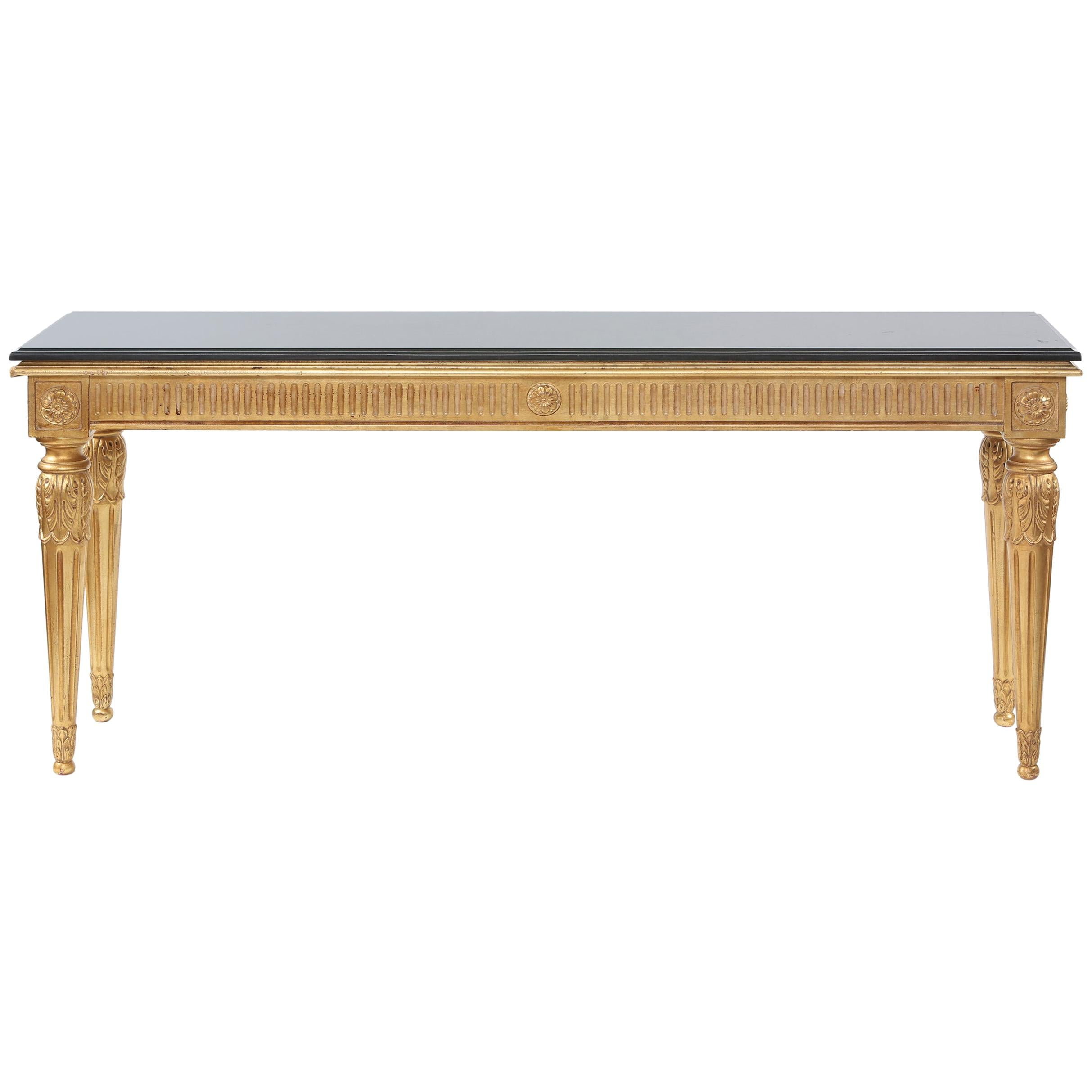 Early 20th Century Giltwood / Marble-Top Console Table