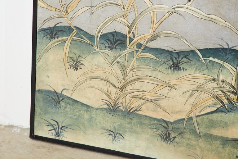 Early 20th Century Gracie Chinoiserie Style Wallpaper Panel Screen For Sale 5