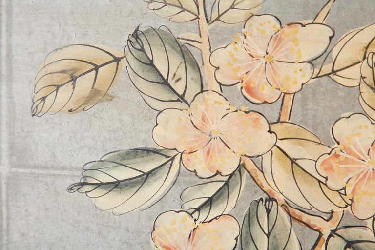 Early 20th Century Gracie Chinoiserie Style Wallpaper Panel Screen For Sale 11