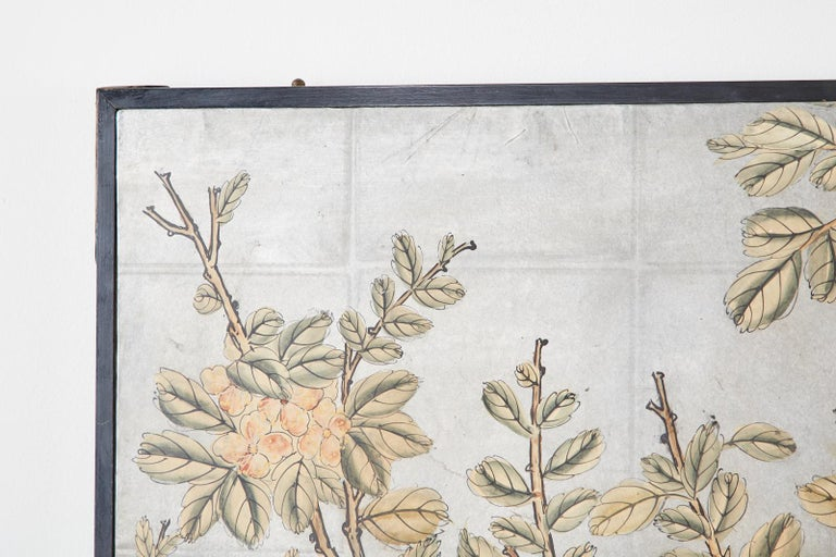 Early 20th Century Gracie Chinoiserie Style Wallpaper Panel Screen For Sale 3