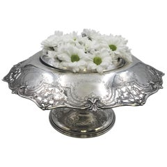 Early 20th Century Graff, Washbourne &Dunn Sterling Silver Rose Bowl Centerpiece