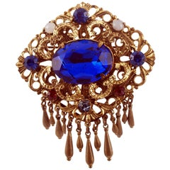 Early 20th Century Grandma's Brooches, Art Nouveau, Zircons, Hard Stones, Pearls