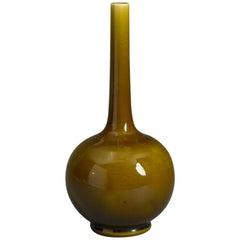 Early 20th Century Green Glazed Bottle Vase