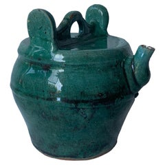Chinese Ceramic Green Glazed 'Shiwan' Teapot, Early 20th Century