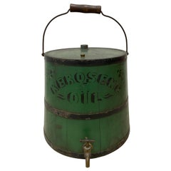Early 20th Century Green Kerosene Can