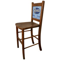 Early 20th Century Grocers Shop Advertising Chair, Restu Washes White Overnight