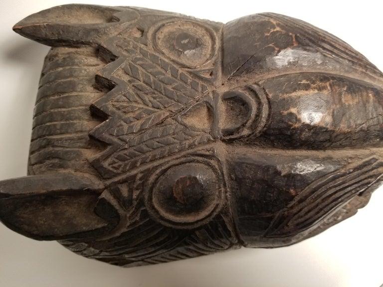 Carved Guatemalan Jaguar ceremonial dancing mask, circa 1920s.