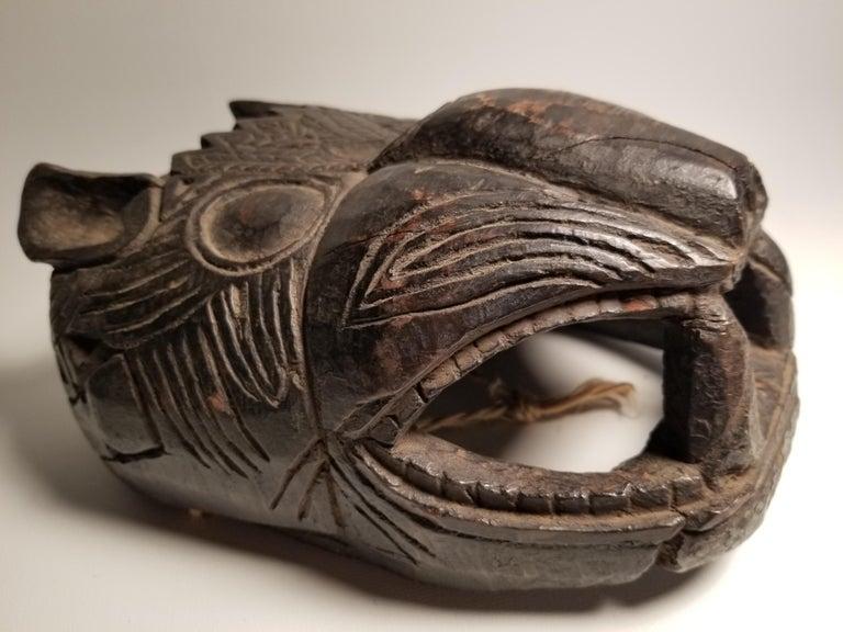 Primitive Early 20th Century Guatemalan Jaguar Mask For Sale