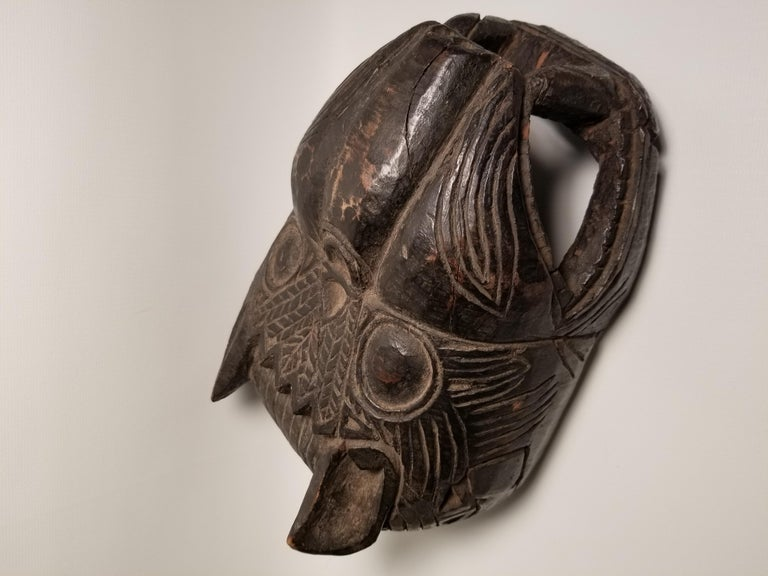 Carved Early 20th Century Guatemalan Jaguar Mask For Sale