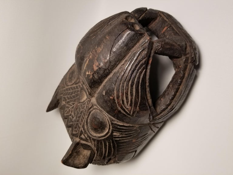 Early 20th Century Guatemalan Jaguar Mask In Distressed Condition For Sale In Scottsdale, AZ
