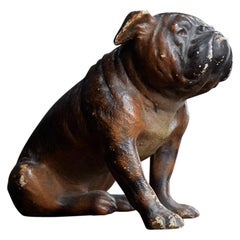 Early 20th Century Hand Crafted Terracotta Dog Figure