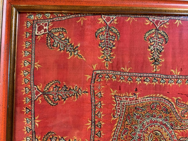 Early 20th Century Hand Embroidery Suzani Wall Hanging For Sale 8
