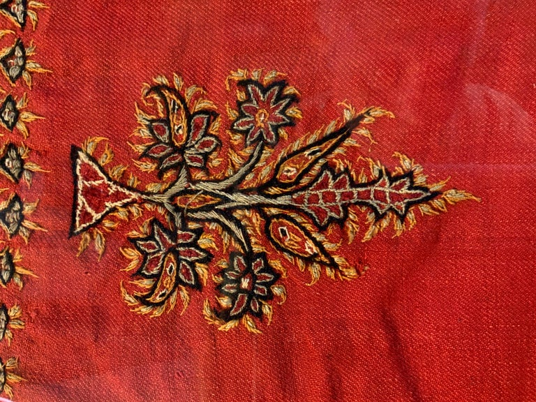 Early 20th Century Hand Embroidery Suzani Wall Hanging For Sale 10
