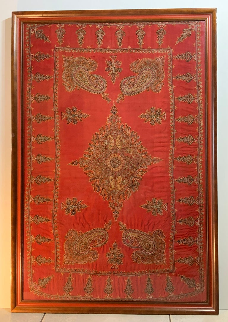 Early 20th Century Hand Embroidery Suzani Wall Hanging For Sale 11