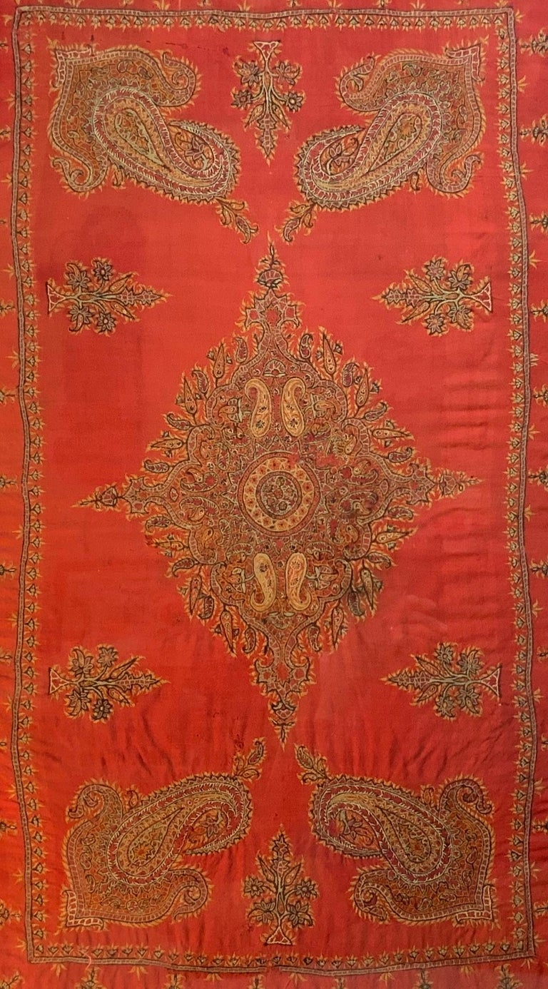 Early 20th Century Hand Embroidery Suzani Wall Hanging For Sale 12