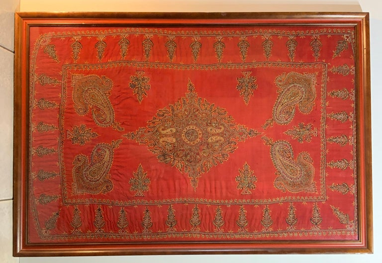 Early 20th Century Hand Embroidery Suzani Wall Hanging For Sale 13