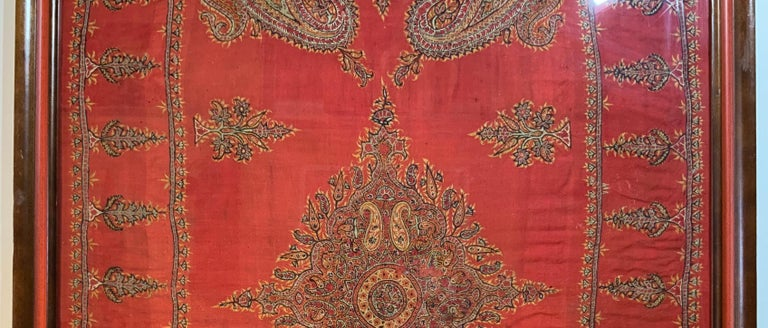 Wool Early 20th Century Hand Embroidery Suzani Wall Hanging For Sale