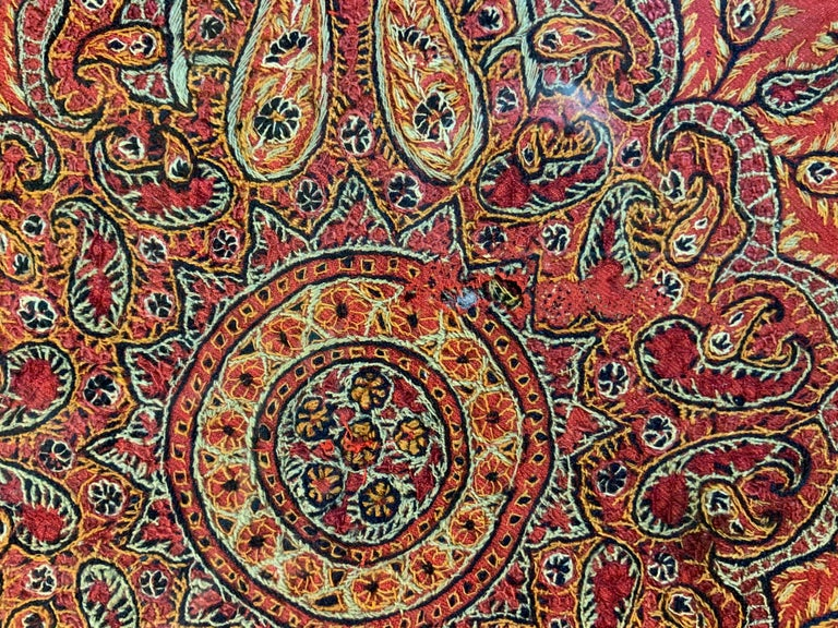 Early 20th Century Hand Embroidery Suzani Wall Hanging For Sale 2